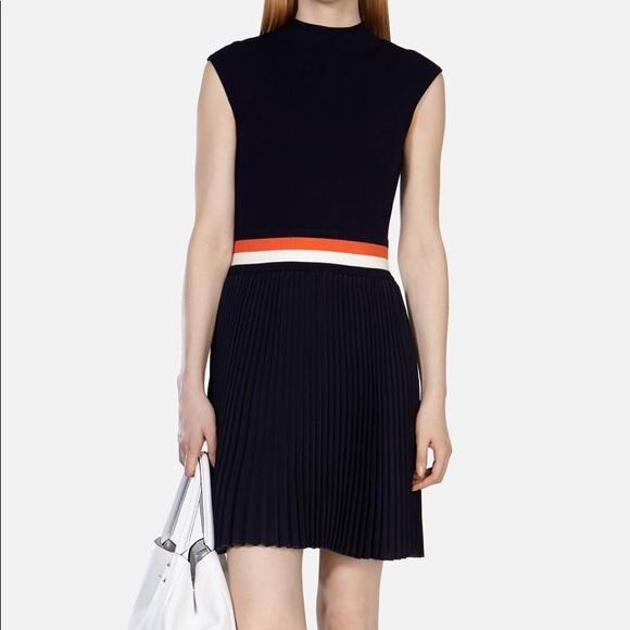 4c92cfb176e Karen Millen Dresses   Skirts - Karen Millen - navy knit dress with pleat  skirt